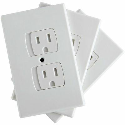 SAFETY BABY An Alternative To Socket Plugs - 3 pack Self-Clo