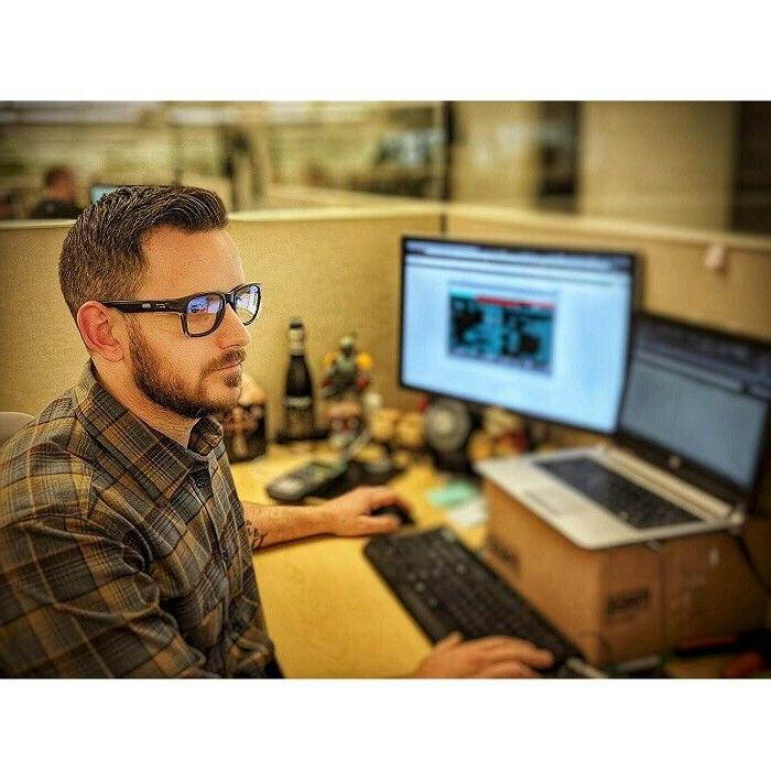Anti Work Glasses Side Shields Scratch Clear