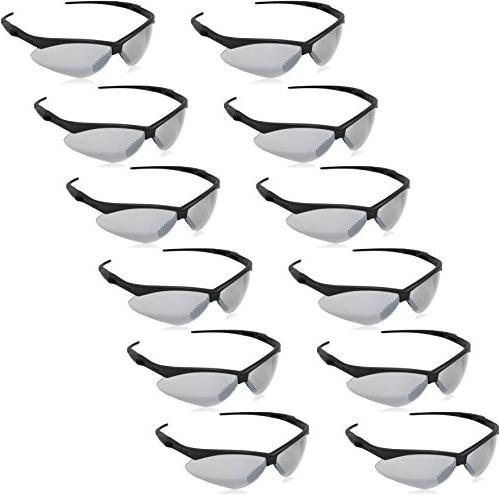 AmazonBasics Safety Glasses, UV-Resistant, Smoke 12-Count