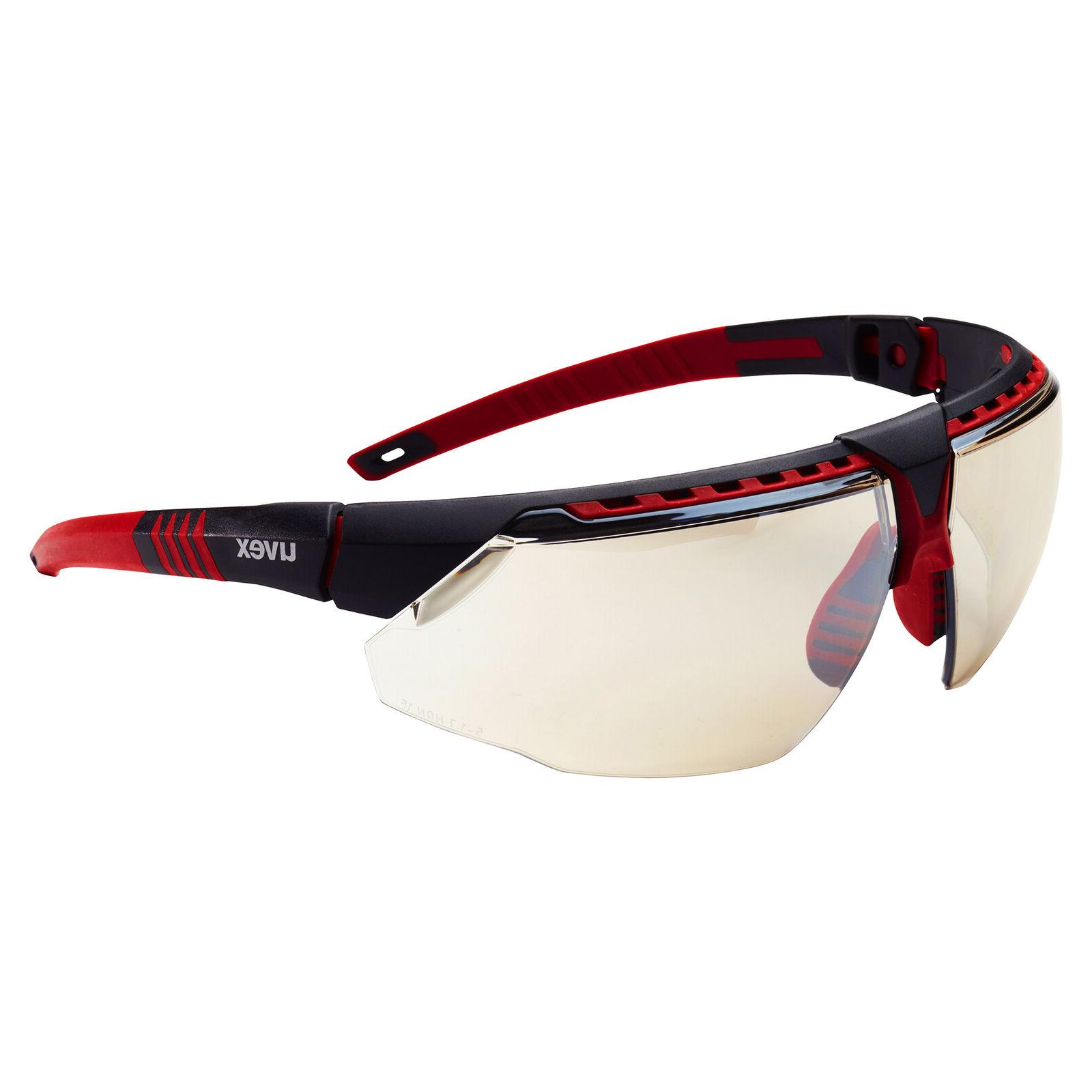 Uvex Avatar Safety Glasses with Indoor Outdoor Mirror Lens,