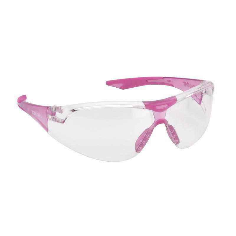 Elvex Avion Clear/Pink SMALL Slim Safety Glasses Women Shoot