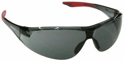 Elvex Avion Safety Glasses with Red Temple Tip and Gray Lens