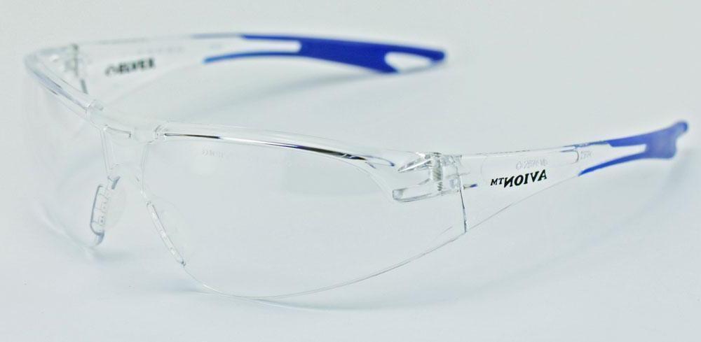 Elvex Avion Safety/Shooting/Glasses Anti-Fog Blue Temples, Ballistic