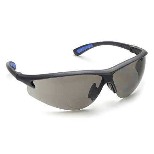 bifocal safety glasses polycarbonate gray