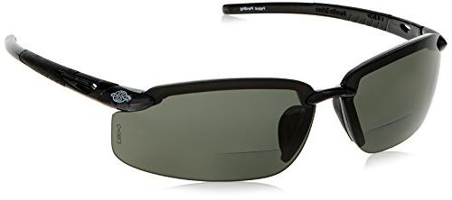 CrossFire Bifocal Safety Glasses 1.5 Polarized Smoke Lens Wi