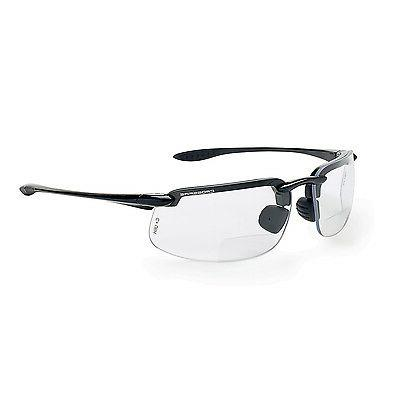 Crossfire Bifocal Safety Glasses 1.5 Clear Lens with Black F