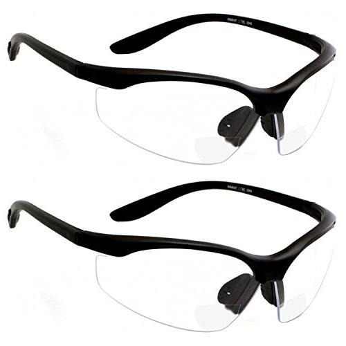 bifocal safety glasses clear lens