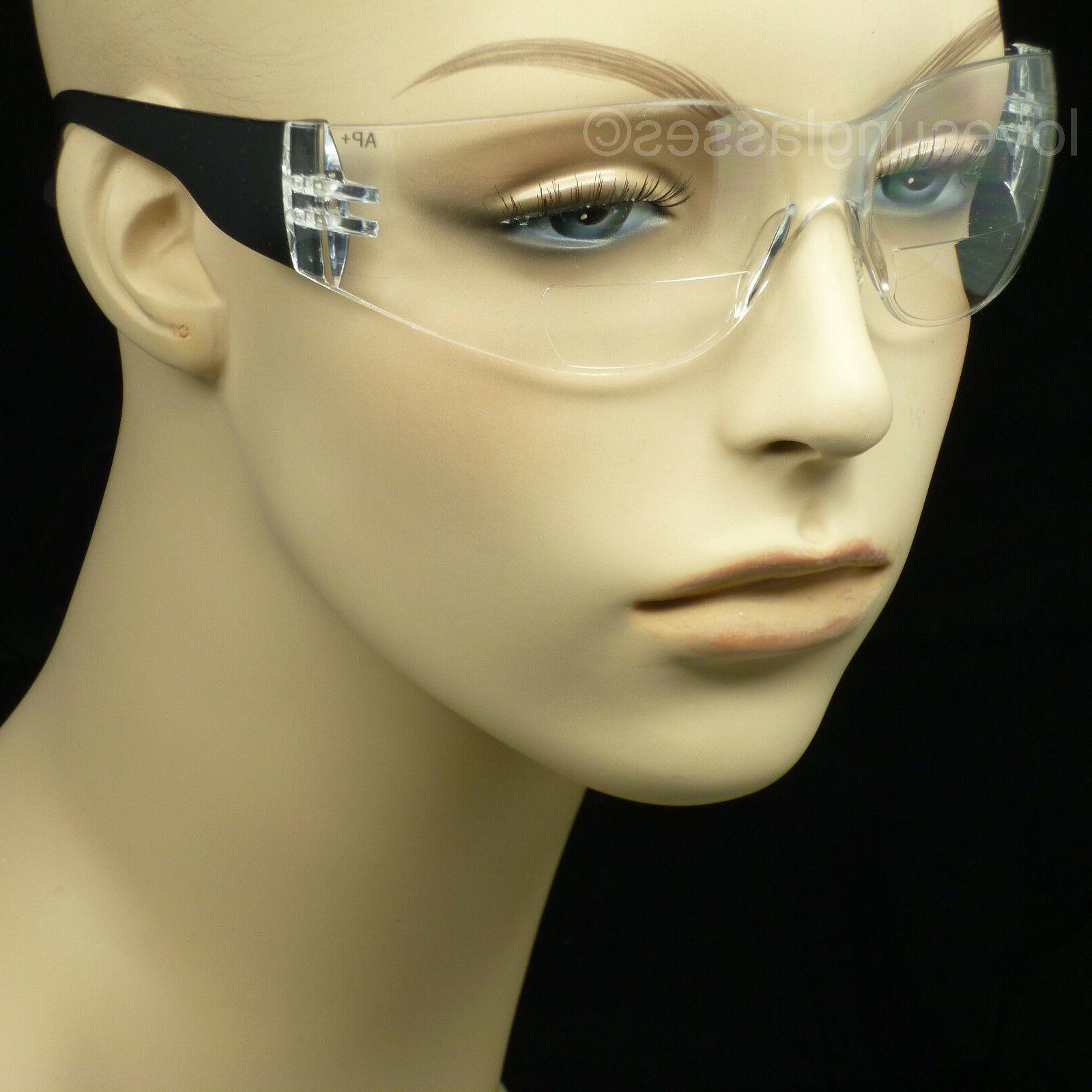 Bifocal safety reading glasses men women shooting power ansi