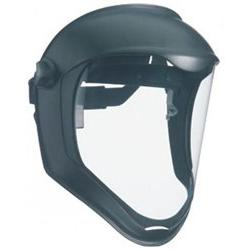 Uvex by Honeywell Bionic Face Shield, Matte Black Frame, Cle
