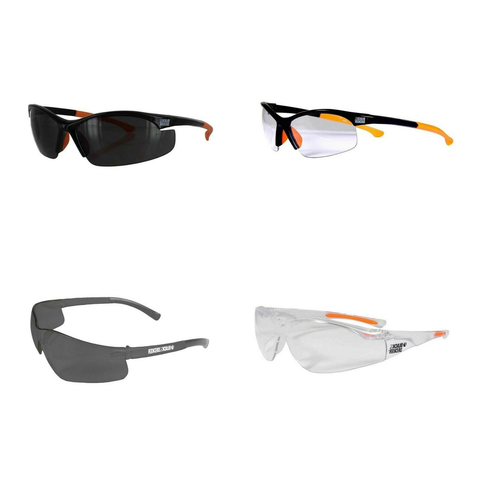 black and decker safety glasses half or