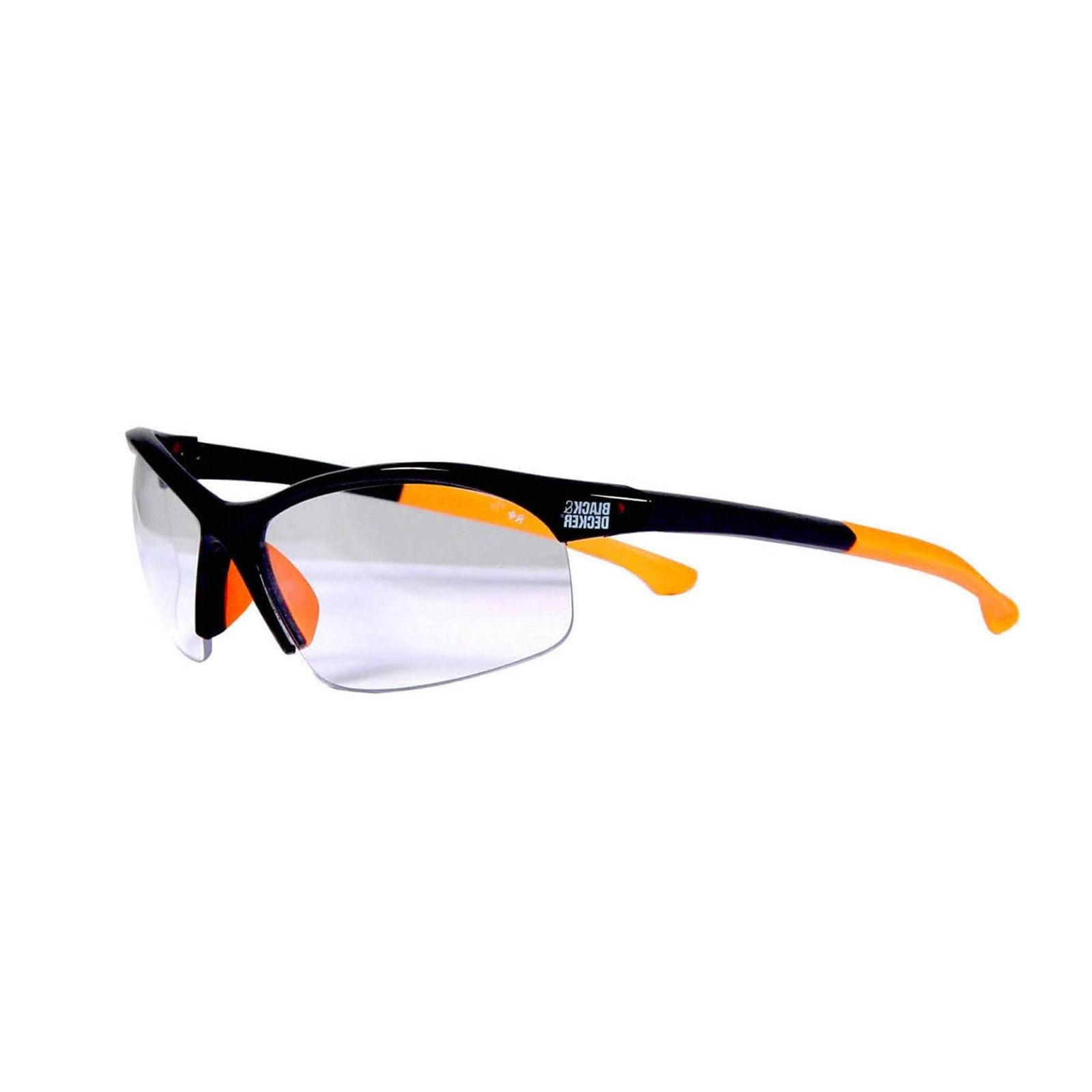 Black Safety Glasses Frames In Smoke Lense