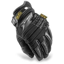 Large Black M-Pact 2 Mechanics Gloves With Double Layer Synt
