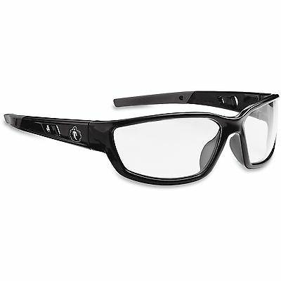 Ergodyne Blade Style Clear Lens Safety Glasses, Black - EGO5