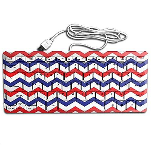 blue red wave usb wired