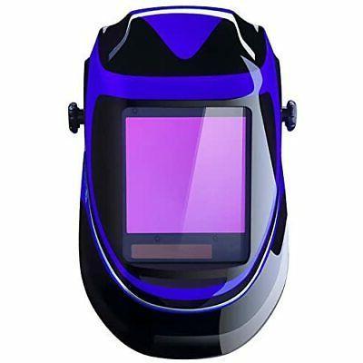Blue Pro Solar Auto Darkening Welding Helmet Arc Tig Mig Mas