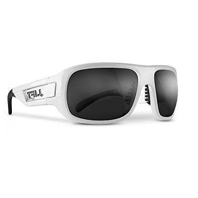 bold safety glasses white frame smoke lens