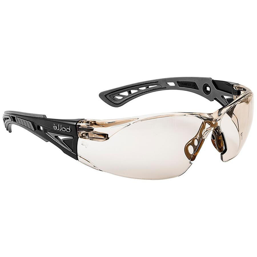bolle rush plus safety glasses black gray
