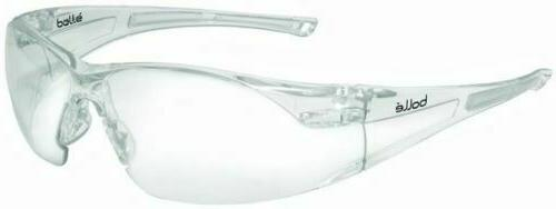 Bolle Rush Safety Glasses with Clear Anti-Scratch and Anti-F