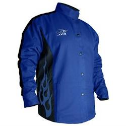 Bsx Bxrb9C Xl Blue With Blue Flames Welding Jacket