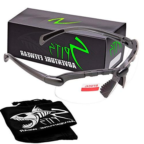 c2 gray bifocal safety glasses