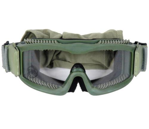 Lancer Tactical CA-221G Clear Lens Vented Safety Airsoft Gog
