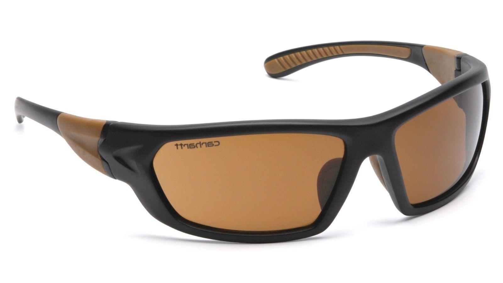 carbondale safety glasses black frames and bronze