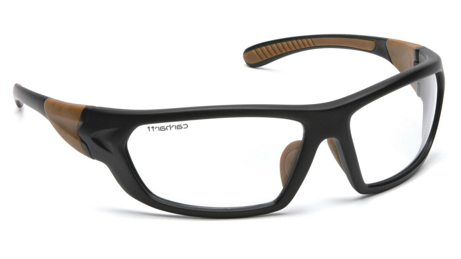 Carhartt Carbondale Safety Glasses with Black Frame and Clea