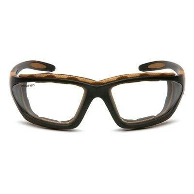 Carhartt Carthage Safety Glasses/Goggles | Black Frame | Cle