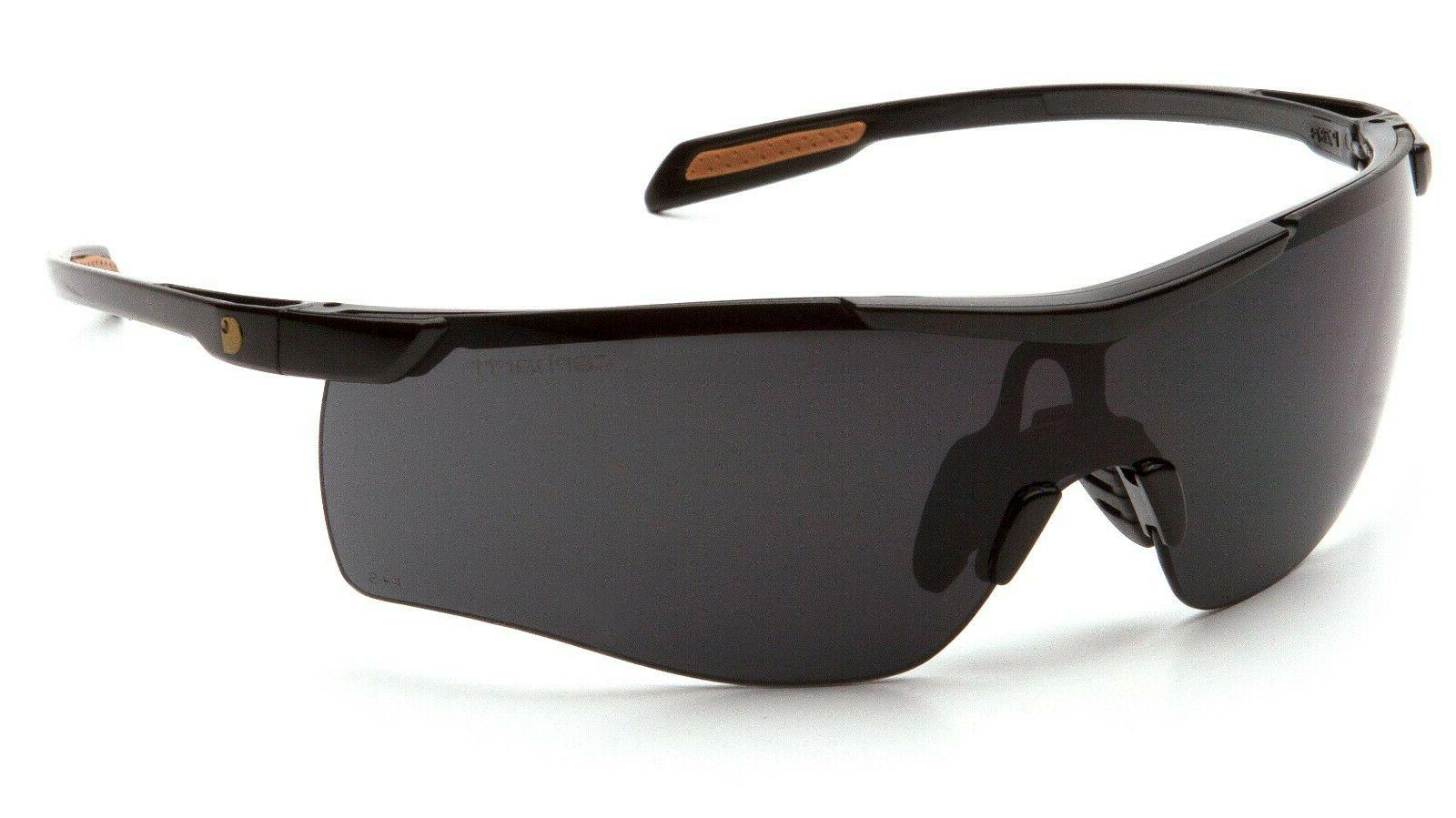 cayce smoke gray anti fog safety glasses