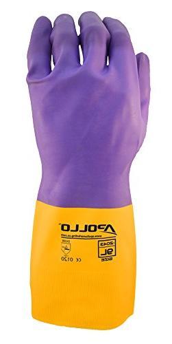 Apollo Performance Chemical Resistant Gloves 2044, Heavy Dut