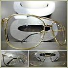 Mens CLASSIC VINTAGE RETRO Style Clear Lens EYE GLASSES Gold