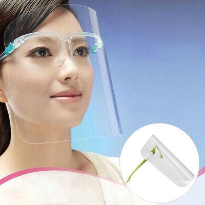 Home Clear Anti Fog Dust Anti-Oil Splatter Full Face Mask Vi