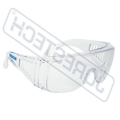 clear lens safety fits over glasses uv