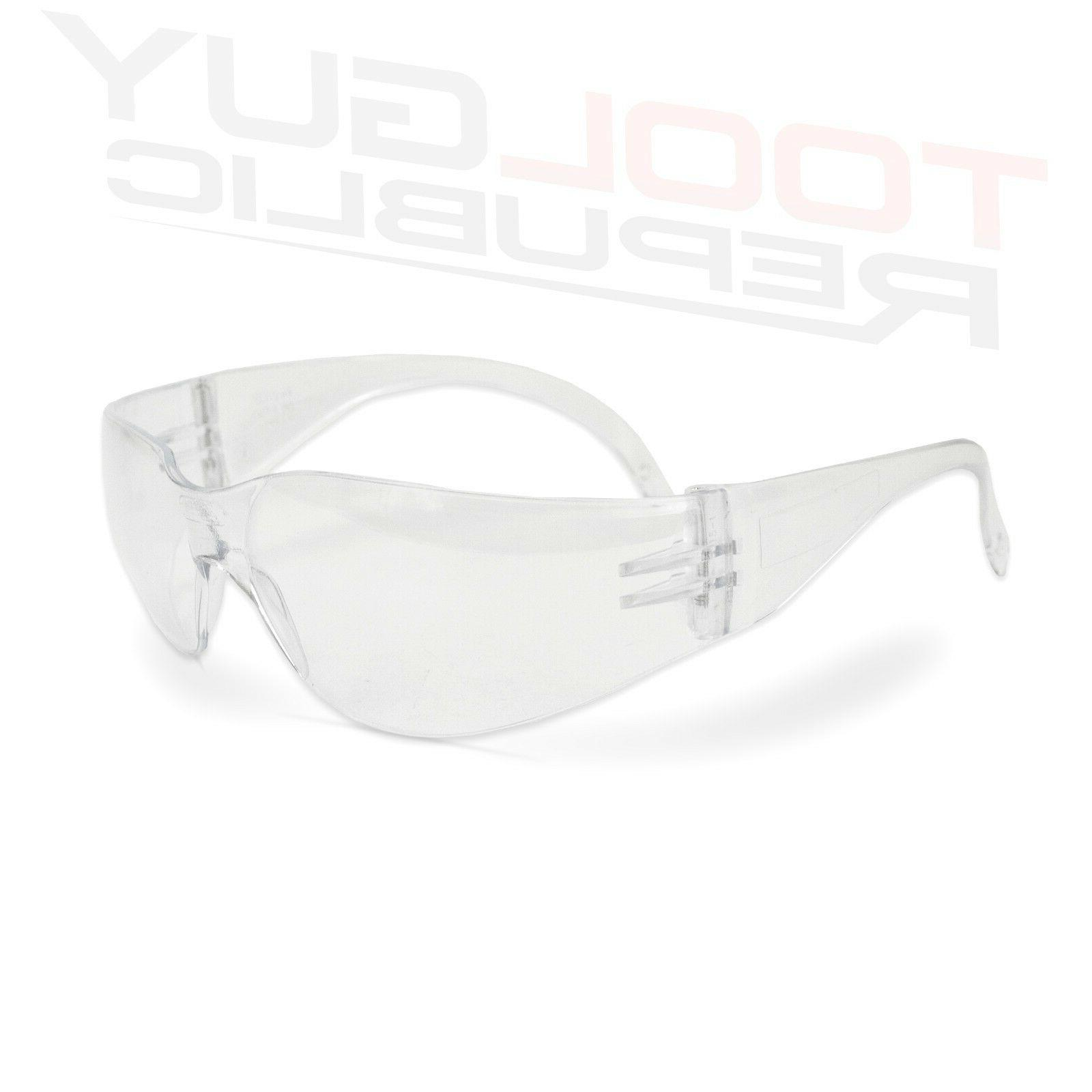 Clear Safety Glasses - Size - ANSI COMPLIANT