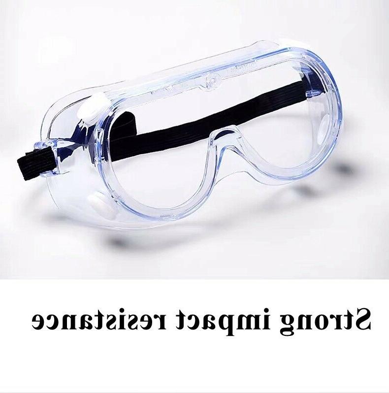Clear Protective Safety Glasses Eye Protection Anti-fog Fit-