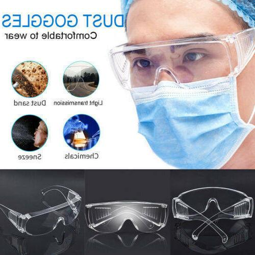 Clear Safety Fog Goggles Glasses Lab Outdoor Eye US