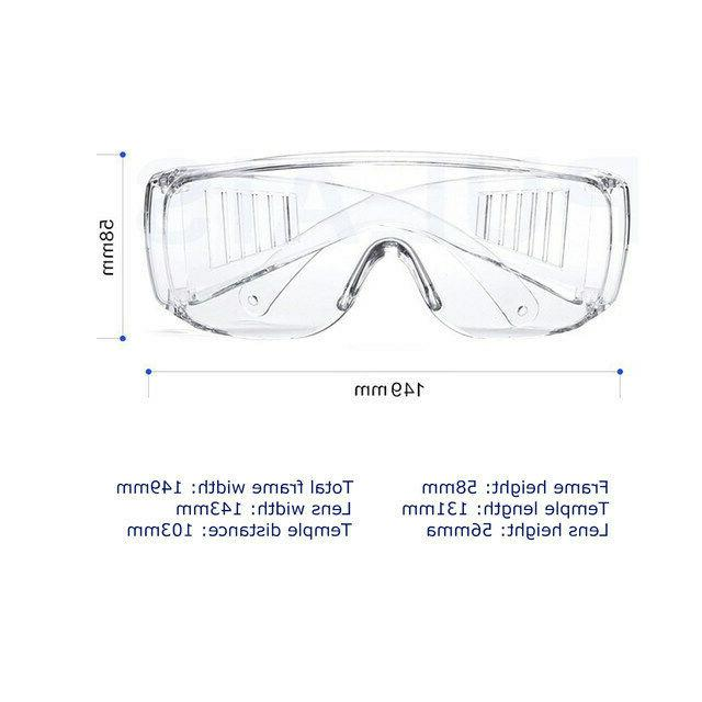 Clear Safety Fog Goggles Glasses Lab Outdoor US