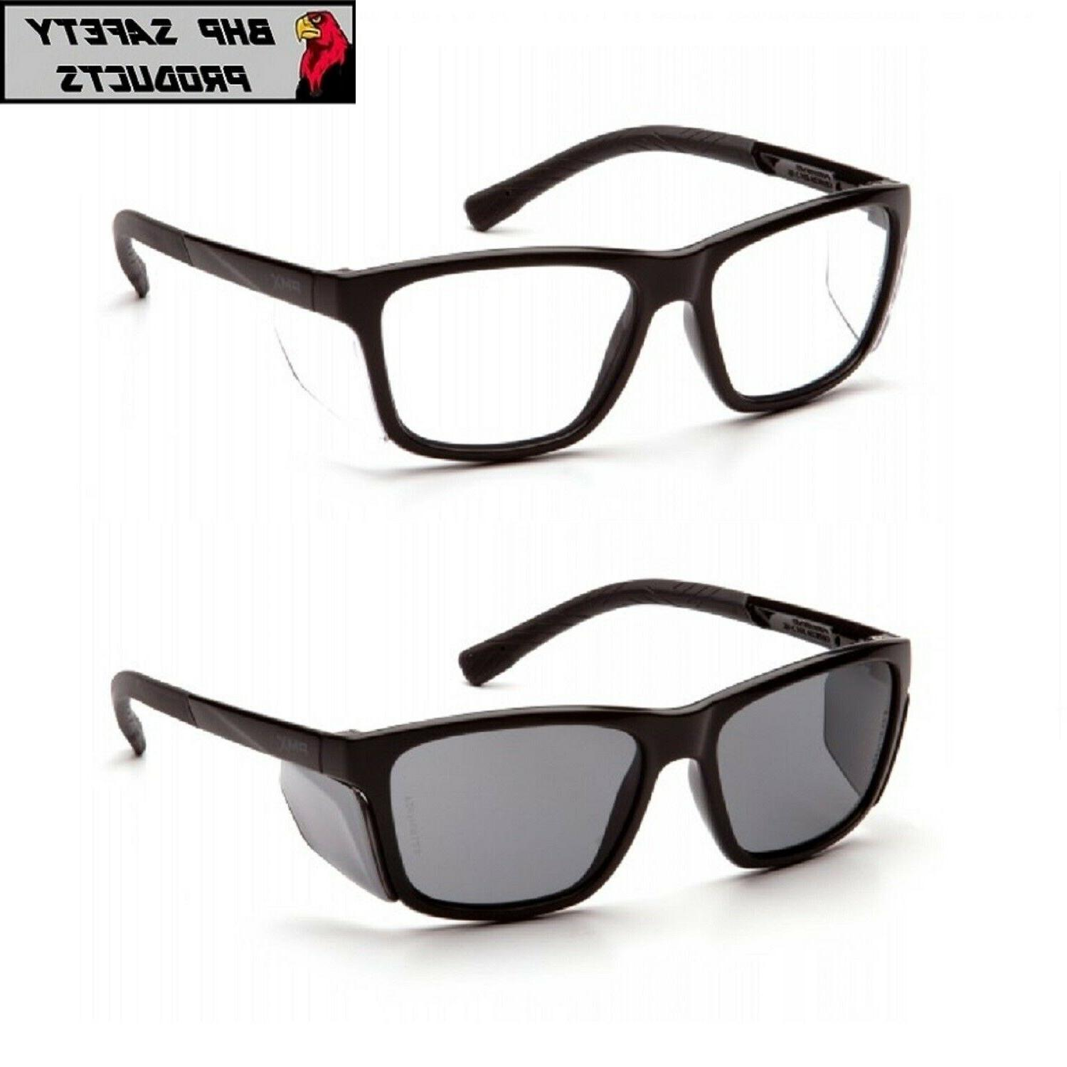conaire safety glasses black frame with integrated