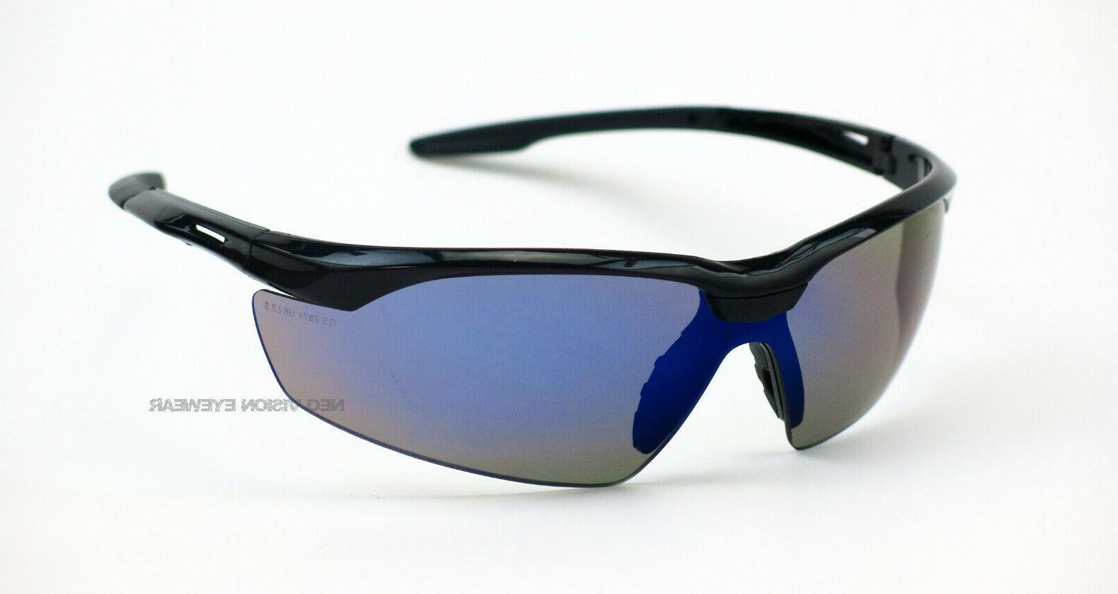 conqueror blue mirror safety glasses sunglasses cord