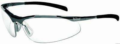 Bolle Contour Metal Safety Glasses with Silver Frame and Cle