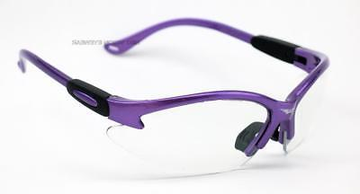 Global Vision Cougar Purple Clear Safety Glasses Z87+