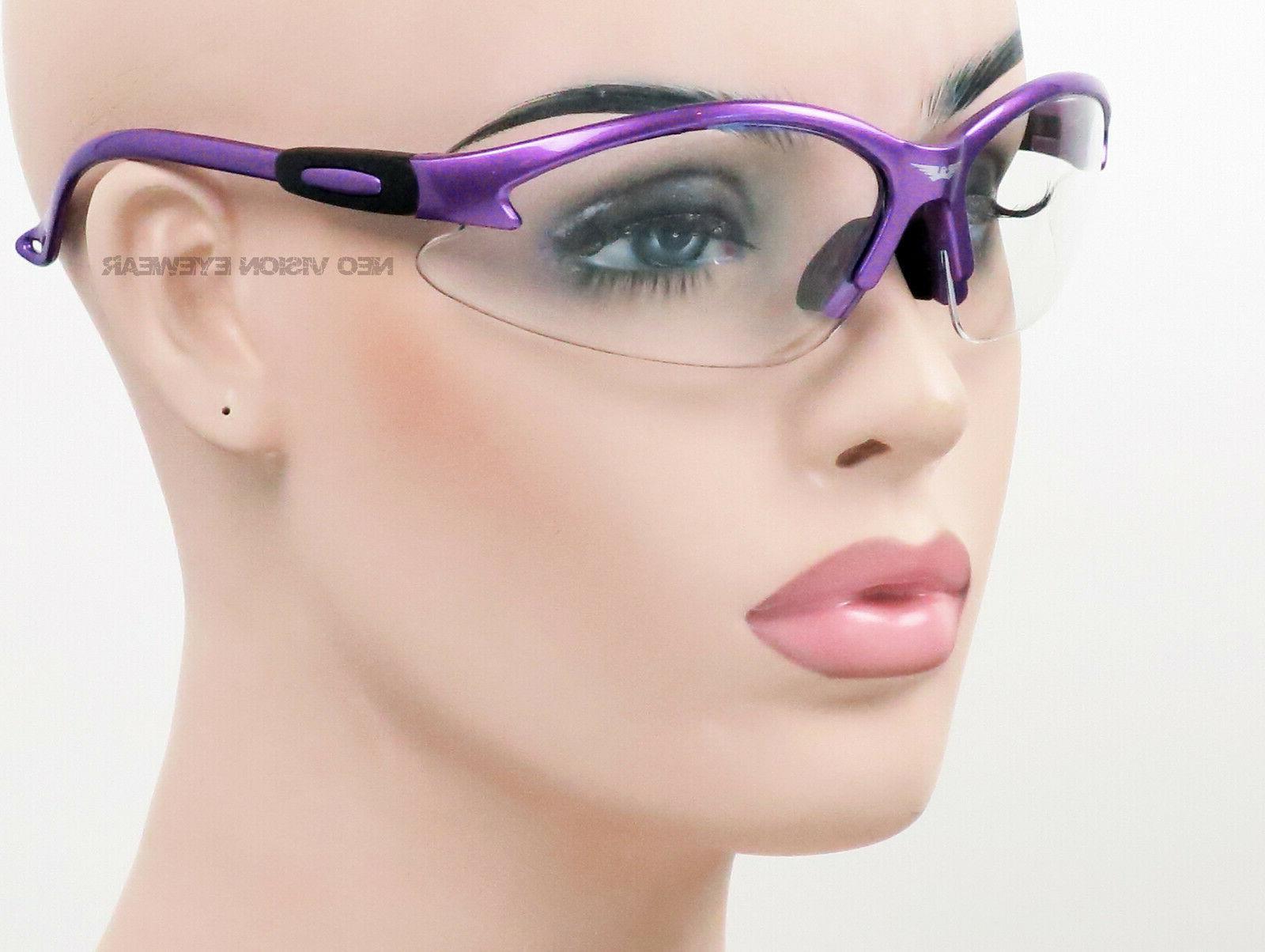 Global Vision Cougar Purple Frame Clear
