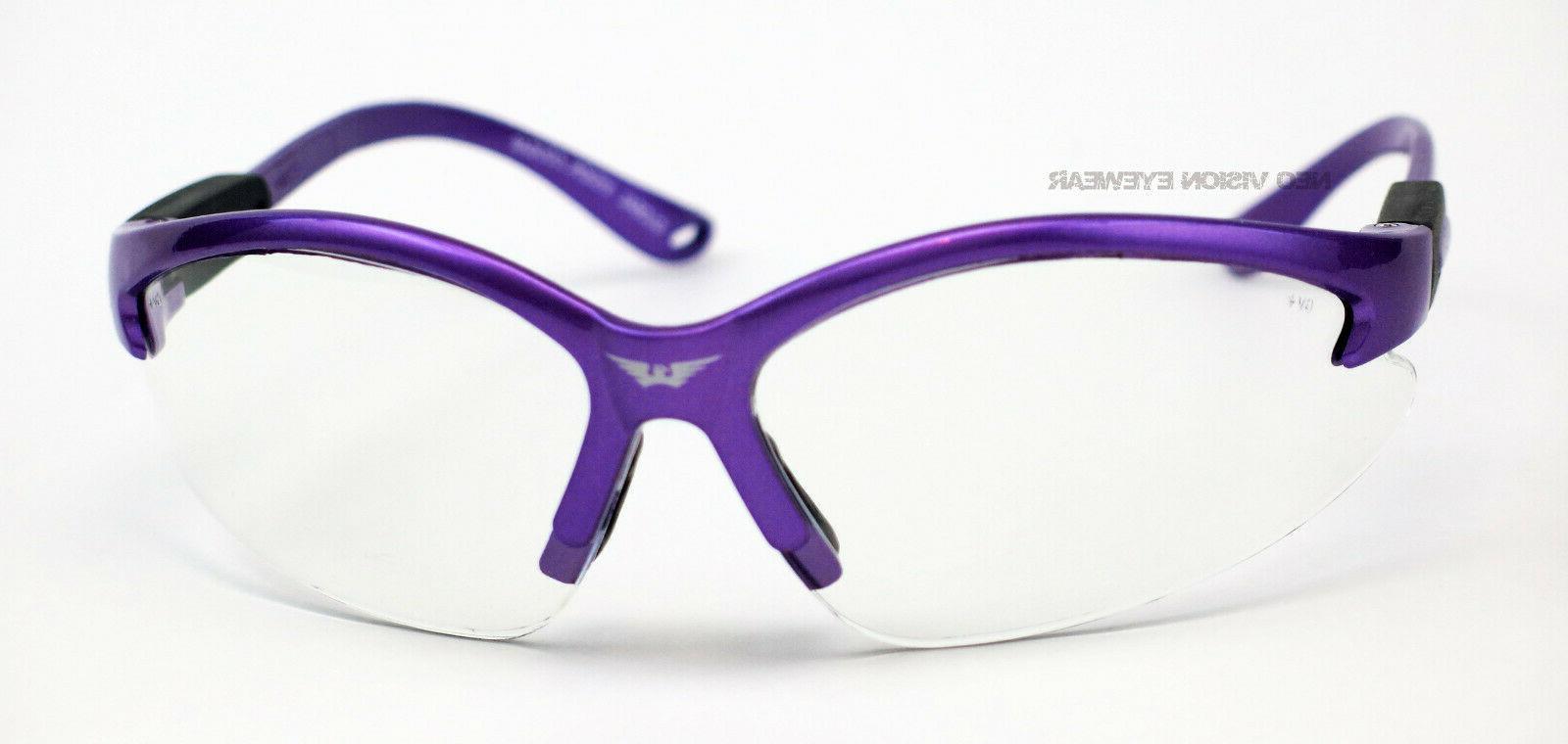 Global Cougar Frame Clear Lens Glasses