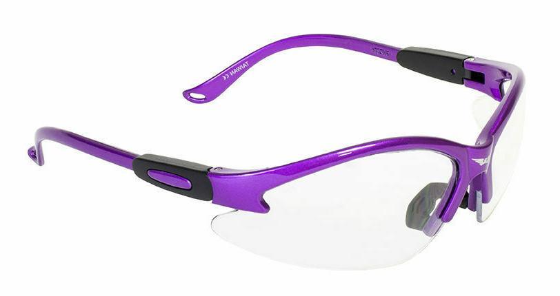 cougar purple frame clear lens safety glasses