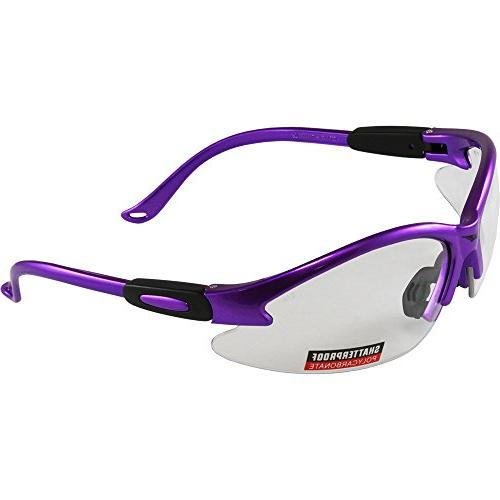 cougar purple frame safety glasses