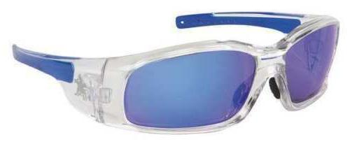 crews blue mirror safety glasses scratch resistant
