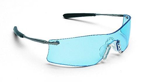 MCR CREWS RUBICON SAFETY GLASSES T4113AF ANTI-FOG LIGHT BLUE