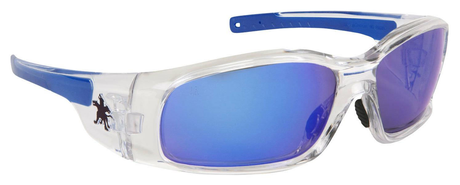 NEW Crews Swagger Safety Glasses | Clear Frame | Blue Mirror