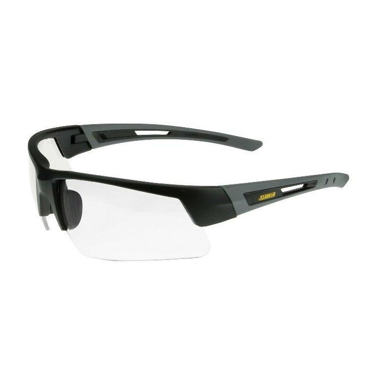 DeWalt Crosscut Safety Glasses with Black/Gray Frame and Cle
