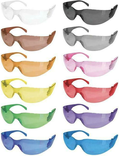 crystal full color safety glasses fits adult